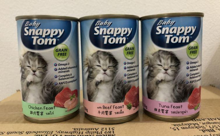 Makanan basah kucing baby snappy tom